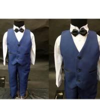 vest anak premium NAVY usia 1 2 3 4 5 tahun tuxedo blueconvero4in1