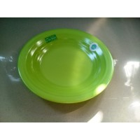 "Piring Ulir Datar 10"" Hijau Stabilo Melamine - Golden Flying Fish P-10"