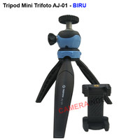 Tripod mini portable with ballhead for camera plus holder hp