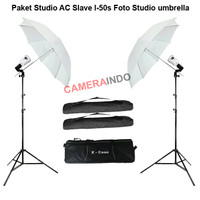 Paket studio ac slave I-50s foto studio umbrella