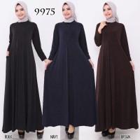 Baju Gamis Wanita Terbaru Gamis Jersey Motif Jeans 9975