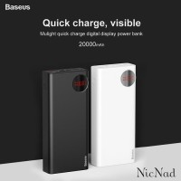 Baseus Power Bank 20000mAh Mulight PD QC 3.0 Dual USB Quick Charge