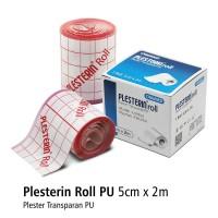 Plesterin Roll PU 5cm x 2m Plester Luka Onemed