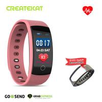 Createkat Smartwatch Heart Rate Monitor Smart Band Gelang Pintar