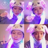 [Ready stok] Topi Kelinci Rabbit Hat Versi Terbaru Berlampu LED TIKTOK