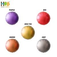 Balon Foil Bulat Round Chrome Metal 18 inch