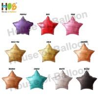 Balon Foil Star Bintang Chrome Metal 18 inch