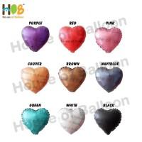 Balon Foil Heart Hati Chrome Metal 10 inch