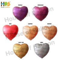 Balon Foil Heart Hati Chrome Metal 18 inch