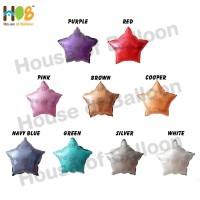 Balon Foil Star Bintang Chrome Metal 10 inch