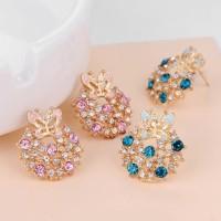 anting kupu-kupu diamond round butterfly earrings jan173