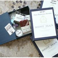 Hampers Box Bestman Groomsman Kado Pengapit Souvenir Dasi Wedding