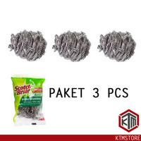 PAKET 3 PCS 3M Scotch Brite Sabut Stainless Kawat Cuci Piring ID-T57N