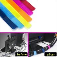 Velcro Strap Binder Cable Organizer Pengikat Kabel Penjepit Kabel