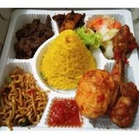 Tumpeng Mini Nasi Box Isi 8 Paket Nasi Kotak Enak, Halal tanpa MSG