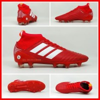 Sepatu Sepak Bola Anak Adidas Predator Merah List Putih Boot Kids