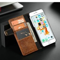Flipcase Book Wallet 6 Slot Card Flip Case Cover Casing Iphone 6 6S