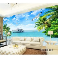 Jual Wallpaper Custom Pemandangan Alam- Wallpaper Pantai 3d