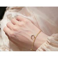 DearMe - AMANDA Bracelet (925 Sterling Silver with 14K gold plating)