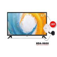 Coocaa 32A4 LED TV [32 Inch] FREE ANTENA HDA-5600