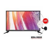 Coocaa 24D2A TV LED [24 Inch] FREE ANTENA HDA-5600