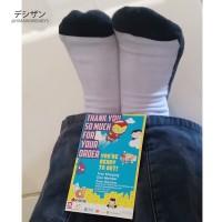 Kaos kaki hitam putih spandek/ Twiki telapak hitam 1/2