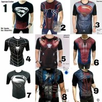 Baju Kaos Cowok Pria Distro Captain America Superman Superhero Murah