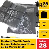 Kantong Plastik Grosir Kresek Bola Lampu Hitam uk 28 Murah GK56