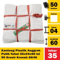 Kantong Plastik Anggrek Putih Tebal 35x04x60 isi 50 Grosir Kresek GK46