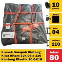Kresek Sampah Bintang Kilat Hitam 80x 04 x 110 Kantong Plastik 10 GK18