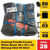 Kantong Plastik Kresek Hitam Besar 28 x 03 x 48 Bintang Kilat 50 GK17