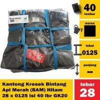 Kantong Kresek Bintang Api Merah (BAM) Hitam 28 x 0125 isi 40 lbr GK20
