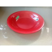 "Piring Ulir Datar 10"" Merah Melamine - Golden Flying Fish P-1001"