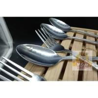 Sendok Makan Cafe & Garpu Makan Cafe Stainless Steel Tebal 6pc