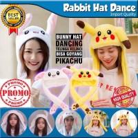 Bunny hat topi twice kuping gerak GOYANG KAWAII Lampu LED
