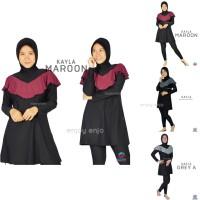 Baju Renang Muslimah Muslim Wanita Dewasa Polos Swimwear Edora Kayla