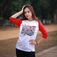 Kaos Distro Etnik Batak Raglan Horas Indonesia
