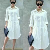 Baju Atasan Wanita Blouse Baju Muslim Tunik Syahrini White Tali.809