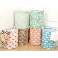 Keranjang Baju Pakaian Kotor / Laundry Bag Canvas - 100055
