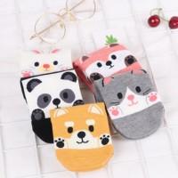 kaus kaki wanita cute animal boat socks fse137
