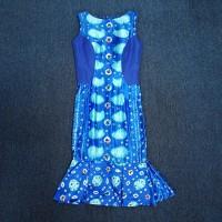 Preloved Dress Batik Ikat Indonesia