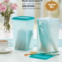 Mosaic Sweet Saver (1) Biru Toples Tupperware