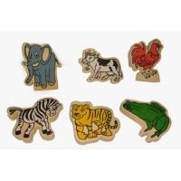 Mainan Edukasi Anak / Mainan Kayu - Miniatur Binatang