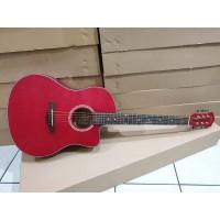 Gitar Akustik Merk Spectrum Original Tipe Sp-109C NS Merah Jakarta
