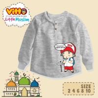 Kaos Anak Little Muslim Brand Vitto 2,4,6,8,10 T