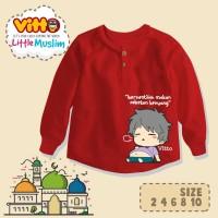 Kaos anak LITTLE MUSLIM (Vitto) Ukuran 2,4,6,8,10 T