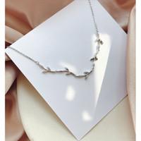 DearMe - LEAF Bracelet (925 Sterling Silver with Zirconium Crystals)