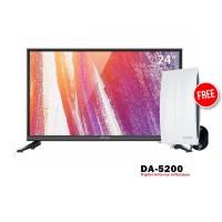 Coocaa 24D2A TV LED [24 Inch] FREE ANTENA DA-5200