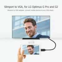 Kabel Adapter Micro USB Male to VGA 1080p Untuk LG Optimus G Pro