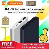 PROMO Powerbank Xiaomi Mi 2 Pro 10000mah Dual Port 2 USB FREE KIPAS